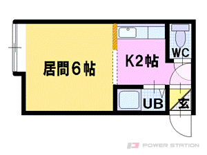 札幌市豊平区美園9条2丁目0賃貸アパート間取図面