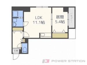 札幌市豊平区豊平3条7丁目0賃貸マンション間取図面