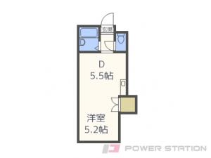 札幌市豊平区中の島2条3丁目0賃貸マンション間取図面