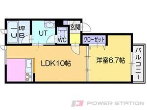 札幌市豊平区豊平6条5丁目0賃貸アパート間取図面