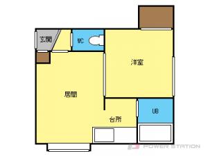 南郷7丁目1DKアパート図面