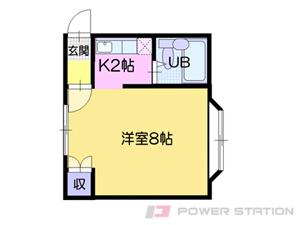 札幌市豊平区豊平4条7丁目0賃貸マンション間取図面