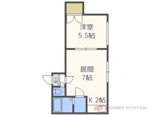 札幌市豊平区水車町2丁目1賃貸マンション間取図面