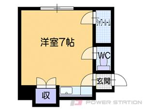 澄川1Rアパート図面