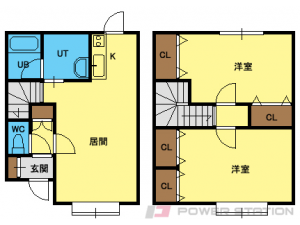 自衛隊前2LDKアパート図面