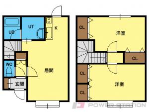 札幌市豊平区西岡5条13丁目0賃貸アパート間取図面