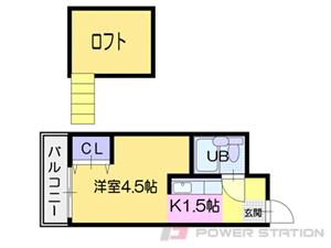 札幌市豊平区西岡1条9丁目0賃貸マンション間取図面