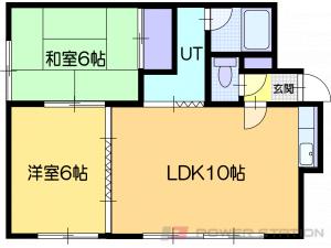 札幌市豊平区福住2条3丁目0賃貸アパート間取図面