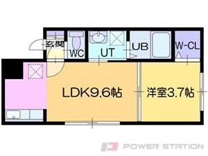 札幌市豊平区平岸2条3丁目0賃貸マンション間取図面