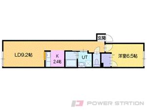 札幌市豊平区豊平4条10丁目0賃貸マンション間取図面