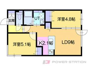 札幌市豊平区豊平3条7丁目1賃貸マンション間取図面