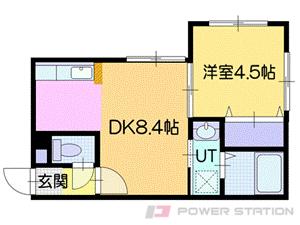 札幌市豊平区豊平1条3丁目0賃貸マンション間取図面