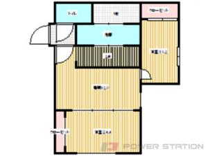 札幌市豊平区平岸3条5丁目0賃貸マンション間取図面