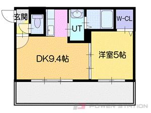 札幌市豊平区平岸2条1丁目1賃貸マンション間取図面