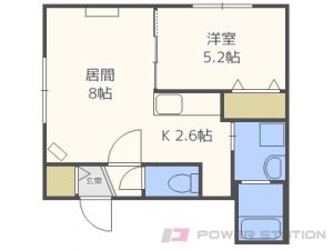札幌市豊平区平岸4条1丁目11賃貸マンション間取図面