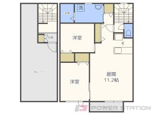 札幌市豊平区中の島1条9丁目0賃貸アパート間取図面
