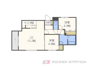 札幌市豊平区豊平1条7丁目11賃貸マンション間取図面