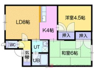 恵み野2LDKアパート図面