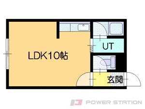 恵み野1Rアパート図面