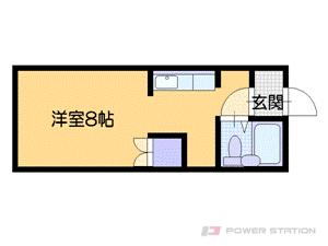 恵庭1Kアパート図面