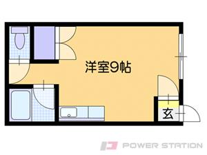 恵庭1Rアパート図面