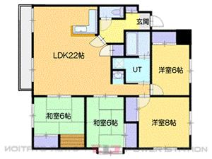 恵庭4LDKマンション図面