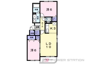 恵庭2LDKマンション図面