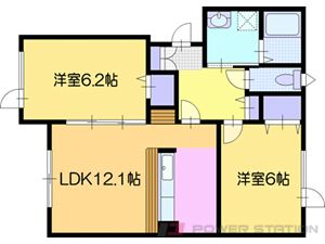 岩見沢市10条東4丁目0賃貸アパート間取図面