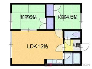 岩見沢2LDKアパート図面