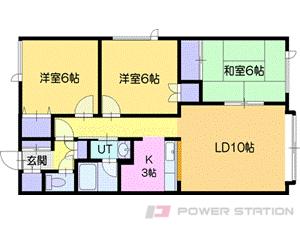 岩見沢市北本町東4丁目0賃貸アパート間取図面