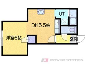 志文1DKアパート図面