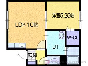 岩見沢市8条西11丁目0賃貸アパート間取図面