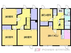 恵み野4LDKアパート図面