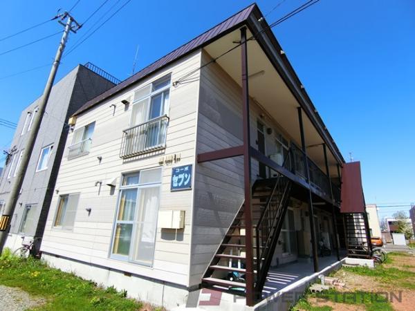 岩見沢市7条西7丁目0賃貸アパート外観写真