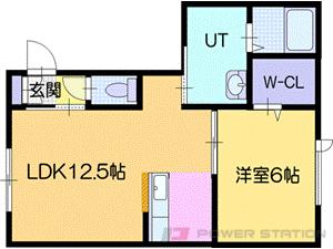 岩見沢市美園5条7丁目0賃貸アパート間取図面