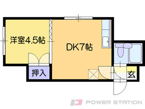 札幌市清田区北野6条1丁目0賃貸マンション間取図面