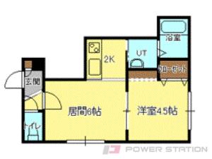 札幌市清田区北野7条1丁目0賃貸アパート間取図面