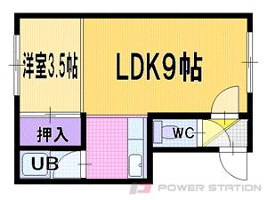 札幌市清田区北野7条2丁目0賃貸アパート間取図面