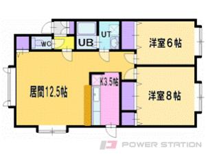 札幌市清田区北野5条1丁目0賃貸アパート間取図面