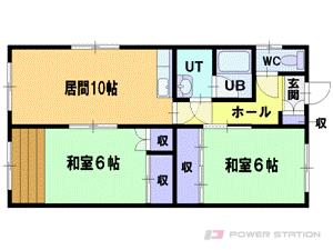 大谷地2DKアパート図面