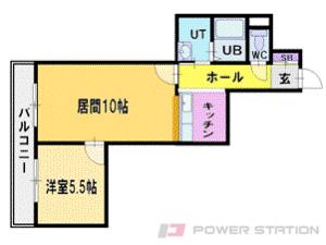 札幌市清田区北野5条5丁目0賃貸マンション間取図面