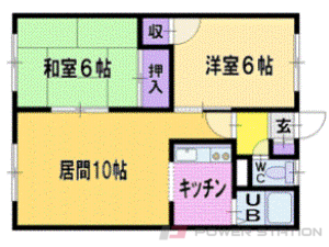 札幌市清田区北野5条5丁目1賃貸アパート間取図面