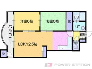 札幌市清田区平岡9条1丁目0賃貸マンション間取図面
