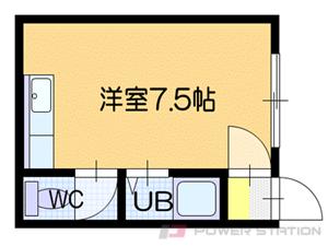 札幌市清田区北野2条1丁目0賃貸アパート間取図面