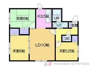 札幌市清田区北野1条1丁目1賃貸アパート間取図面