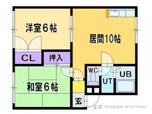 札幌市清田区北野1条1丁目0賃貸アパート間取図面