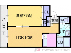 札幌市清田区北野3条3丁目0賃貸マンション間取図面
