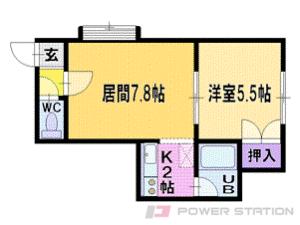 札幌市清田区北野2条2丁目1賃貸アパート間取図面