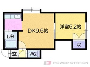 南郷18丁目1LDKアパート図面