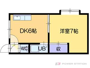 札幌市清田区北野2条2丁目0賃貸アパート間取図面